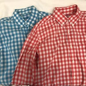 0d84cf4090397 Lot Of 2 J CREW Lightweight Plaid Long Sleeve